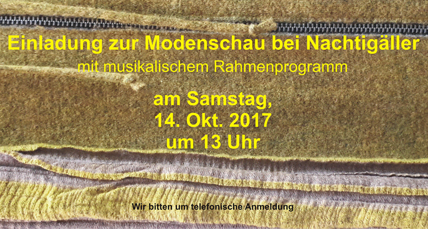Nachtigäller Modenschau Herbst 2017